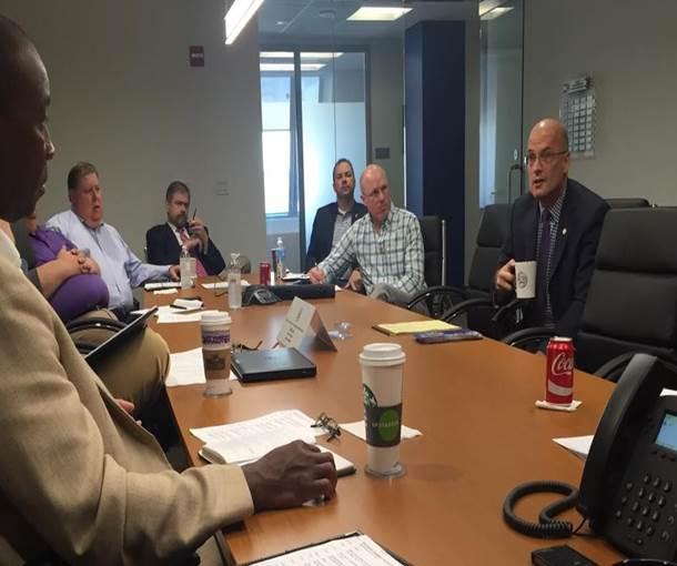 STB Chairman Daniel Elliott meets with SMA's Transportation Committee