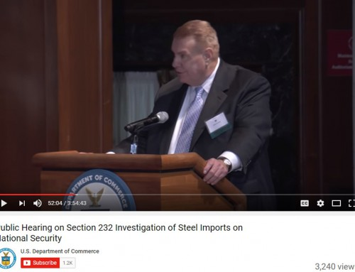 John Ferriola, President and CEO, Nucor Corporation, Testifies at U. S. Department of Commerce